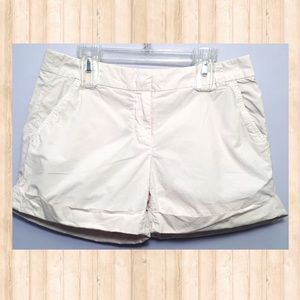 J. Crew white roll up shorts